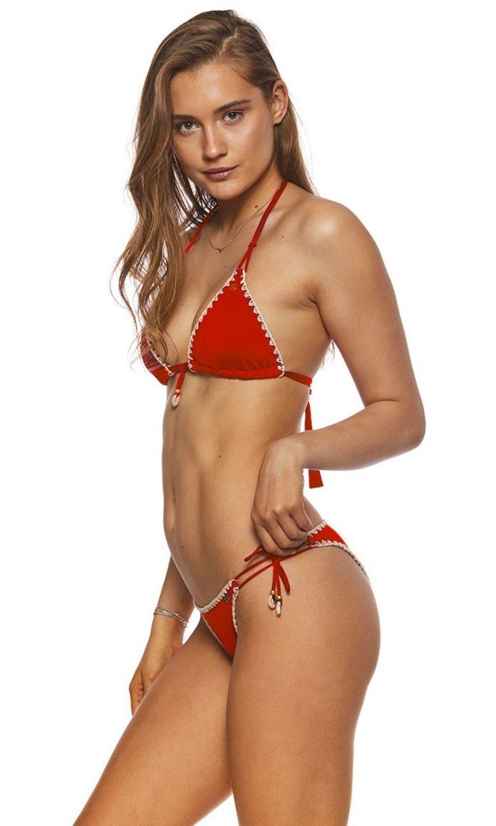 Banana Moon 2018 bikinicollectie ETHNICHIC bikini triangel rood trendy zomer 2018 zijkant