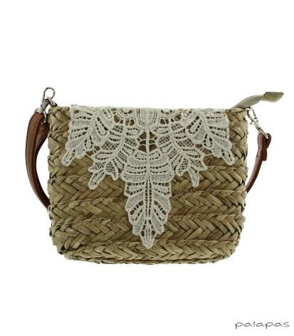 mini strand tas met gehaakte versiering