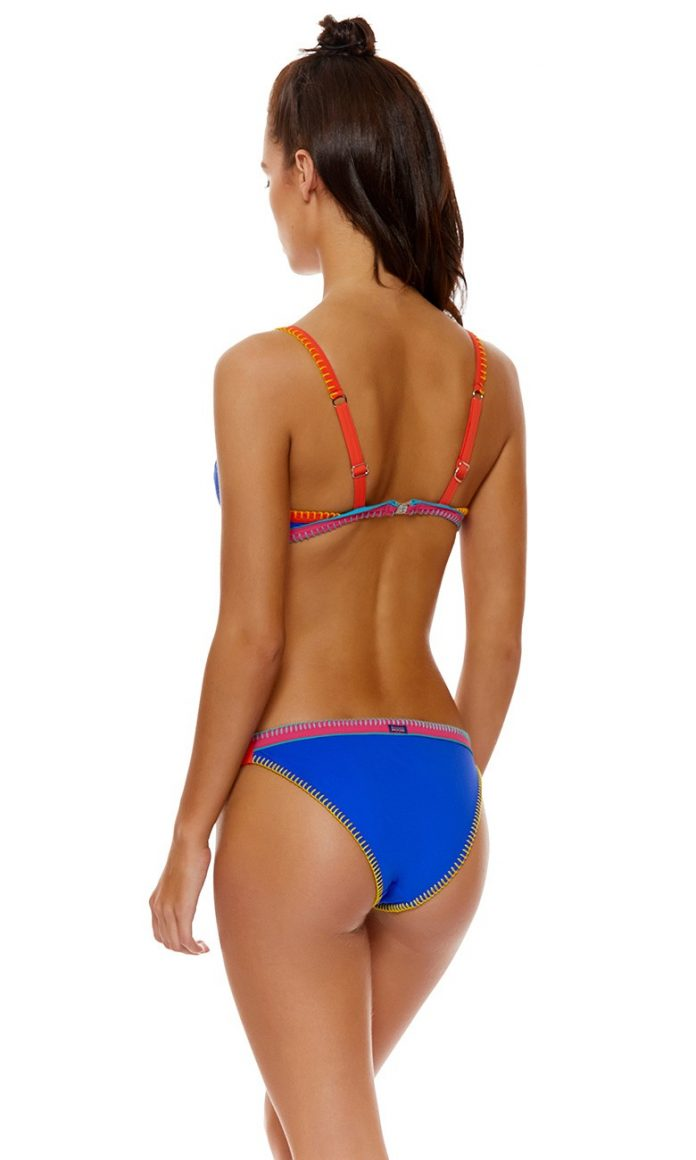 banana moon teknicolor bikini top donker blauw trendy zomer 2018
