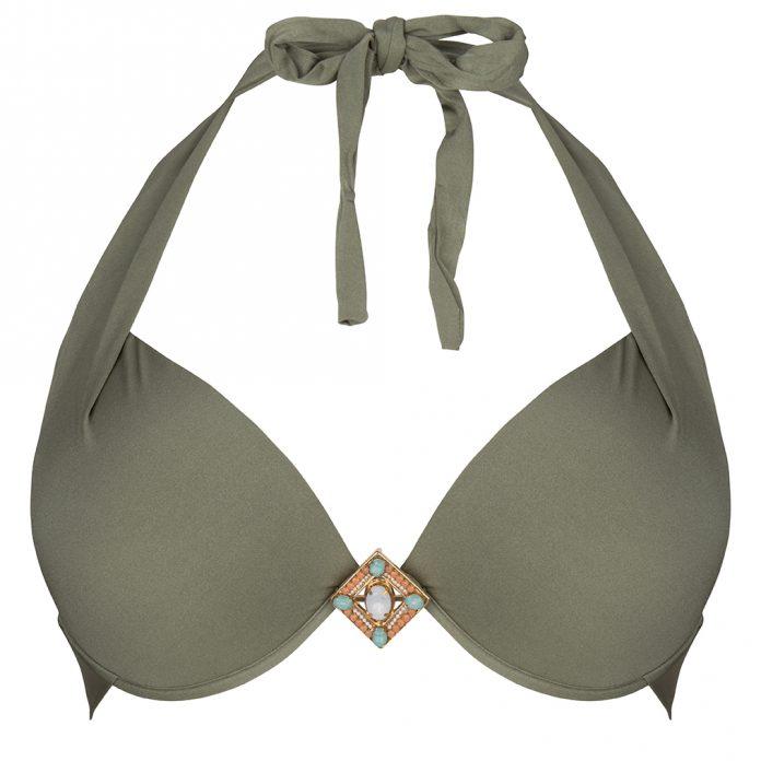 BOHO bikini Supreme halter olive groen