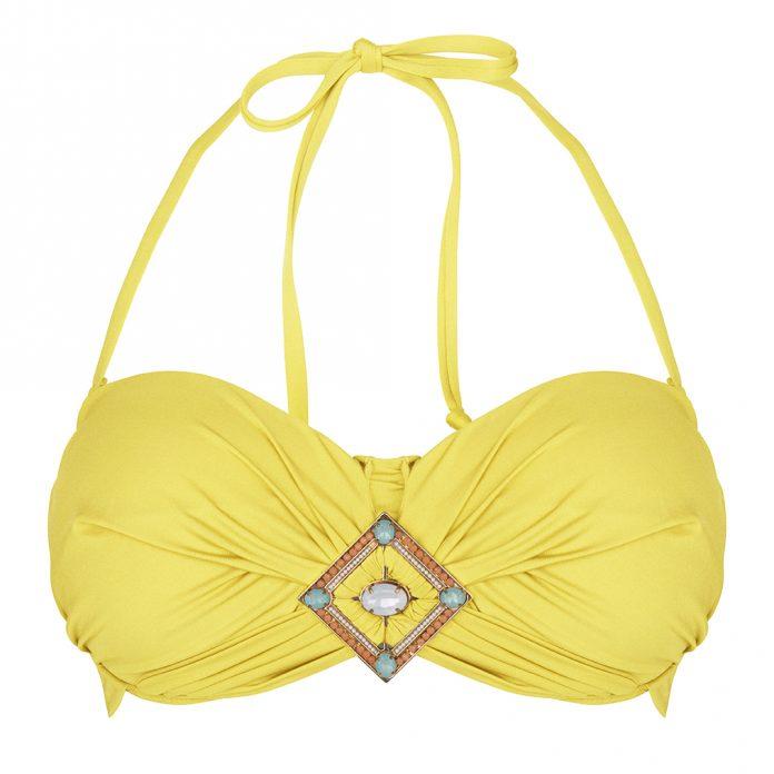 BOHO-bikini-2018--Bohemian-bandeau-yellow-geel trendy zomer 2018