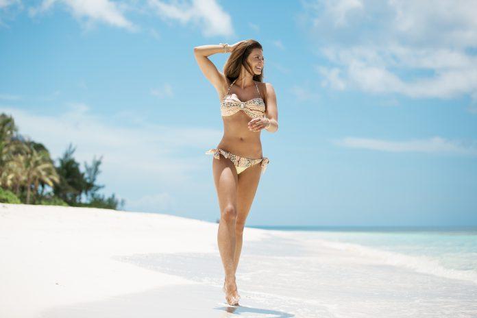 BOHO-bikini-2018-Iconic-bandeau-Aztec-Elite-bottom-Yellow-geel trendy zomer 2018
