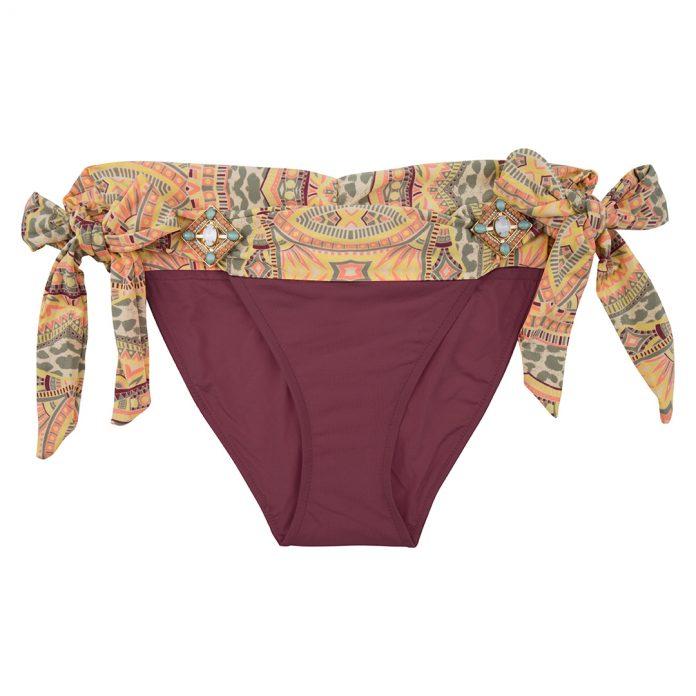 BOHO-bikini-2018-Elite-bottom-aubergine-paars-aztec trendy zomer 2018