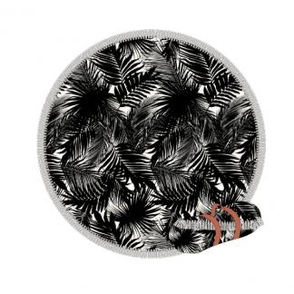 Shiwi roundie handdoek round towel zwart wit print trendy zomer 2018