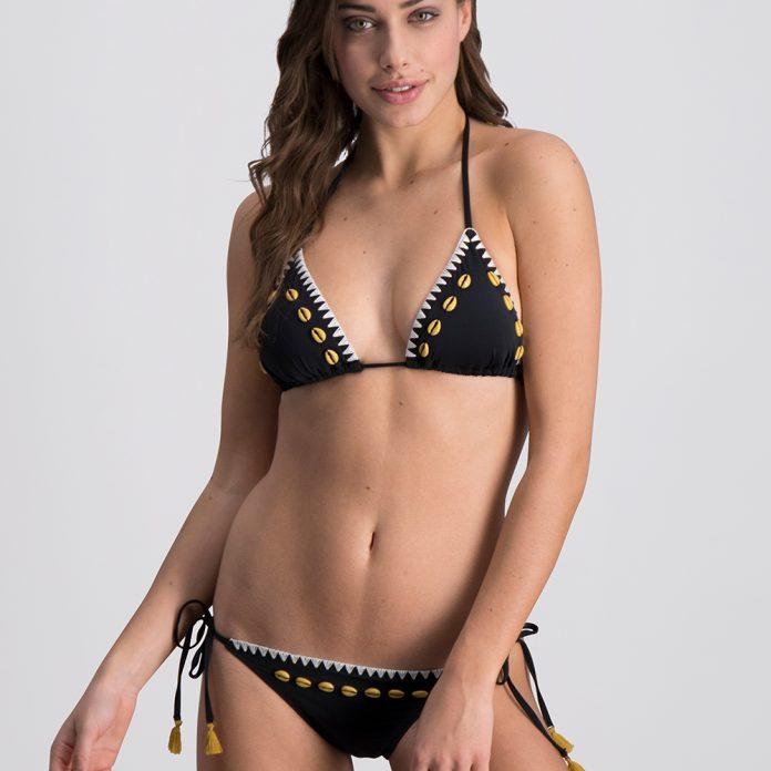 Melt bikini 2018 Shells zwart Trendy zomer 2018