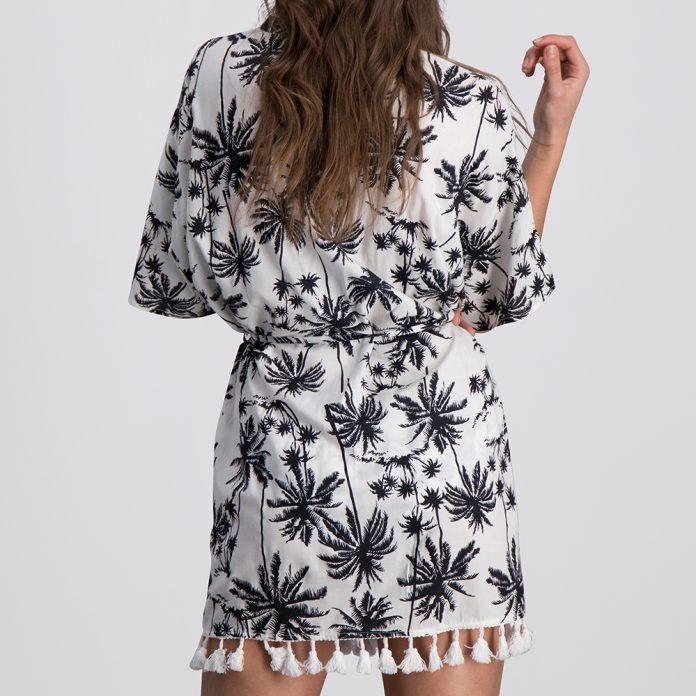 Melt fashion 2018 Palms Kimono Zwart Wit Trendy Zomer 2018 achter