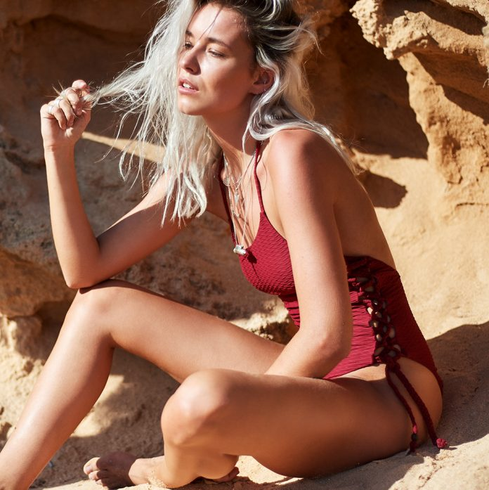 Melt badpak 2018 Knotted rood Trendy Zomer 2018